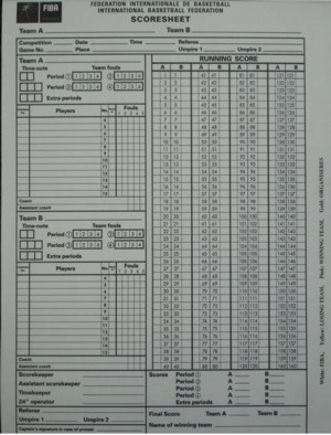 basketball statistics sheets - group picture, image by tag ...