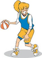 Clip Art Girls Basketball Clipart girls basketball clipart return from to pictures